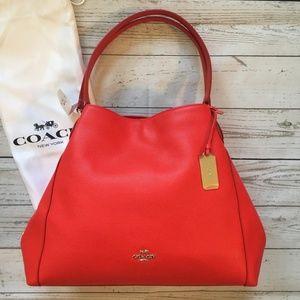Coach Edie Shoulder Bag Cardinal Red